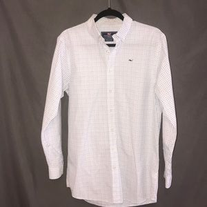 Vineyard Vines blue and white mens button down